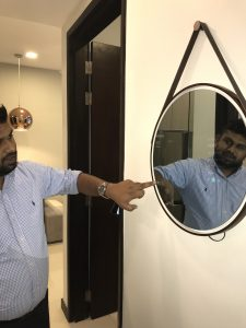 TRI-ZEN Sales Member Using The Smart Mirror